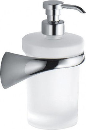 Дозатор жидкого мыла настенный стеклянный с держателем сатин Colombo LINK B9310.DX.SAT