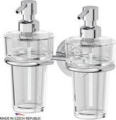 Дозаторы для жидкого мыла настенные хрусталь/хром Ellux ELE 007/ELU 003