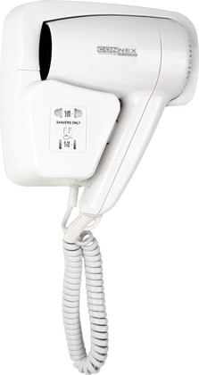 Фен настенный для волос, 1200Вт Connex HAD-120-18B1