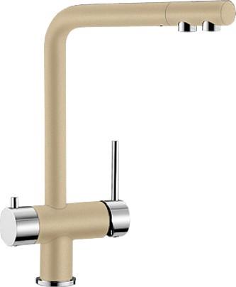 Смеситель кухонный однорычажный с высоким изливом для обычной и питьевой воды, шампань Blanco FONTAS 518508