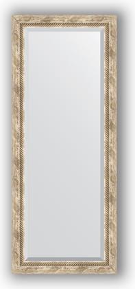 Зеркало с фацетом в багетной раме 58x143см прованс с плетением 70мм Evoform BY 3537