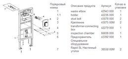 Инсталляция для писсуара электронная Grohe Rapido U 38786001