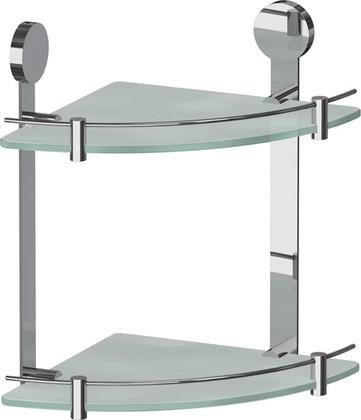 Полка для ванной стеклянная угловая двойная 24х24х33см ArtWelle HAR 040