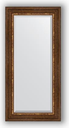Зеркало с фацетом в багетной раме 56x116см римская бронза 88мм Evoform BY 3491