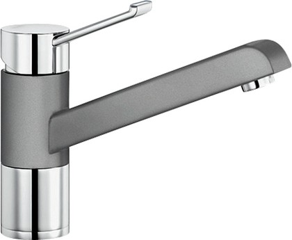 Смеситель однорычажный для кухонной мойки, хром / алюметаллик Blanco ZENOS 517806