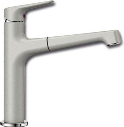 Смеситель кухонный однорычажный с высоким выдвижным изливом, жемчужный Blanco FELISA-S 520347