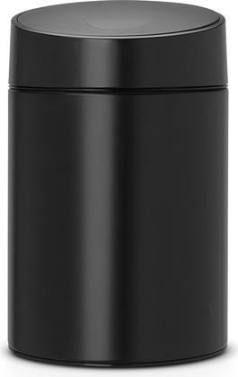 Мусорный бак с чёрный крышкой 5л чёрный Brabantia SLIDE BIN 483189