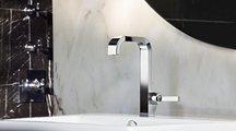 Смеситель для маленькой раковины однорычажный с высоким изливом и донным клапаном, хром Hansgrohe AXOR Citterio 39034000