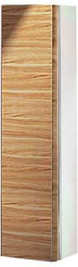 Высокий шкаф-пенал, петли слева, белый глянцевый / шпон оливы Keuco EDITION 300 30311389101