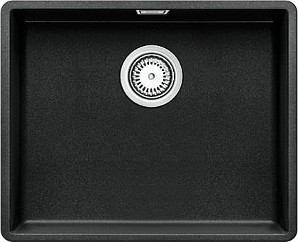 Кухонная мойка без крыла, с клапаном-автоматом, гранит, антрацит Blanco SUBLINE 500-F 519808
