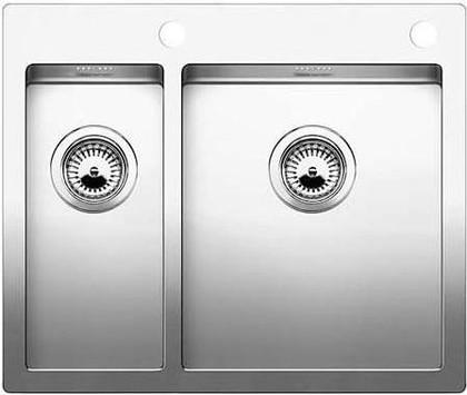 Кухонная мойка без крыла, с клапаном-автоматом, нержавеющая сталь зеркальной полировки Blanco CLARON 340/180-IF/А 514204