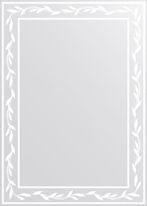 Зеркало для ванной с орнаментом 50x70см FBS CZ 0734