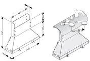 Скрытая часть смесителя для ванны с термостатом на 4 отверстия, монтаж на борт ванны Hansgrohe Ecostat 15460180