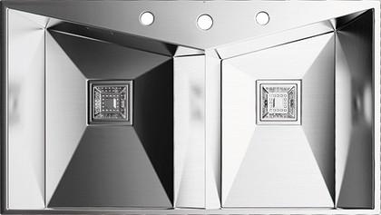Кухонная мойка без крыла, нержавеющая сталь матовой полировки Omoikiri Izumi 86-2 4993013