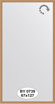 Зеркало 67x127см в багетной раме вишня Evoform BY 0739