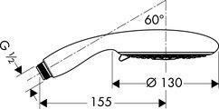 Ручной душ, 3 вида струи, хром Hansgrohe Raindance E 120 Air 28507000