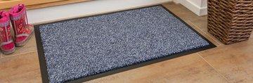 Коврик придверный 60x90см для помещения серый, полиамид Golze ZIRCON 630-55-40