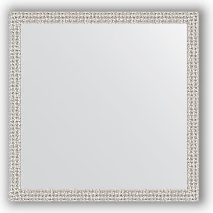 Зеркало в багетной раме 71x71см мозаика хром 46мм Evoform BY 3228