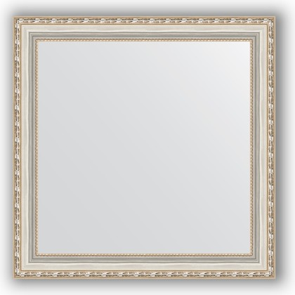 Зеркало в багетной раме 65x65см версаль серебро 64мм Evoform BY 3142