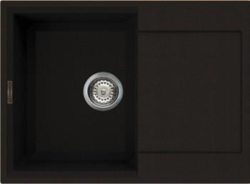 Кухонная мойка оборачиваемая с крылом, гранит, тёмный шоколад Omoikiri Sakaime 68-DC 4993192