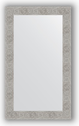 Зеркало в багетной раме 70x120см волна хром 90мм Evoform BY 3217