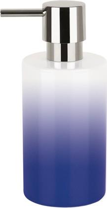 Ёмкость для жидкого мыла фарфоровая синяя Spirella TUBE GRADIENT 1017965