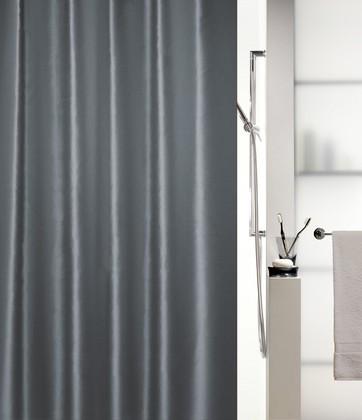 Штора для ванны 180x200см текстильная серая Spirella SHINE 1015648