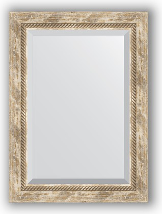 Зеркало с фацетом в багетной раме 53x73см прованс с плетением 70мм Evoform BY 3381