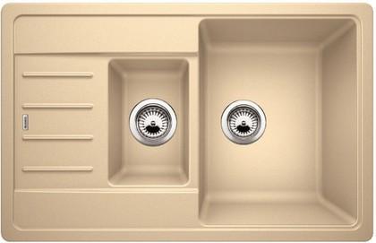 Кухонная мойка с крылом оборачиваемая, гранит шампань Blanco LEGRA 6 S Compact 521306