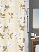 Штора для ванны 180x200см текстильная бежевая Spirella FELICIA 1013445