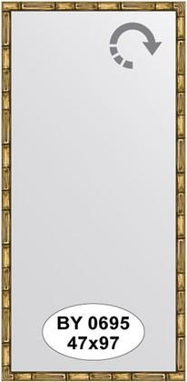 Зеркало 47x97см в багетной раме золото-бамбук Evoform BY 0695