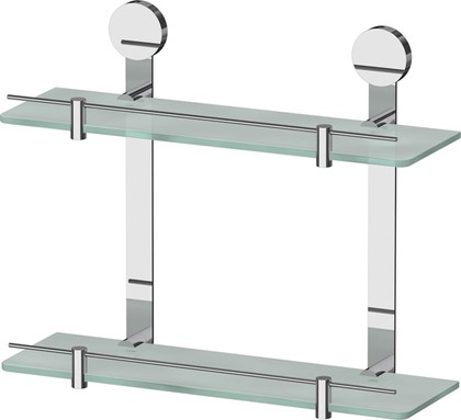Полка для ванной стеклянная двойная 40см ArtWelle HAR 037