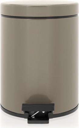 Ведро для мусора с педалью 5л серо-коричневое Brabantia 425028