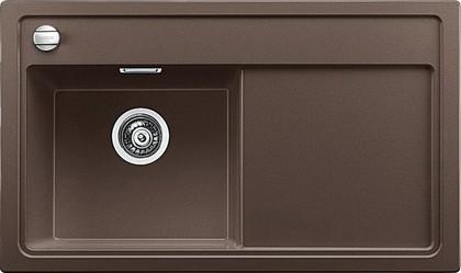 Кухонная мойка чаша слева, крыло справа, с клапаном-автоматом, гранит, кофе Blanco ZENAR 45 S 519270