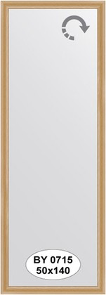 Зеркало 50x140см в багетной раме клён Evoform BY 0715
