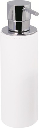 Диспенсер для мыла, хром / белая экокожа Colombo Black&White B9232.EPB