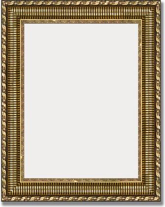 Зеркало 40x50см в багетной раме золотой акведук Evoform BY 1350