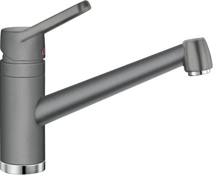 Смеситель кухонный однорычажный с длинным рычагом управления, SILGRANIT алюметаллик Blanco ACTIS 512895