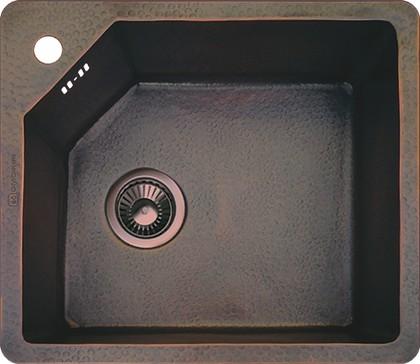 Кухонная мойка без крыла, медь натуральная Omoikiri Sinano OSI-50-1-CO