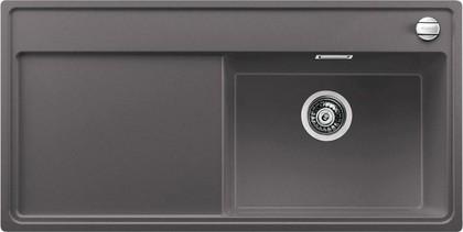 Кухонная мойка чаша справа, крыло слева, с клапаном-автоматом, гранит, тёмная скала Blanco ZENAR XL 6 S 519272