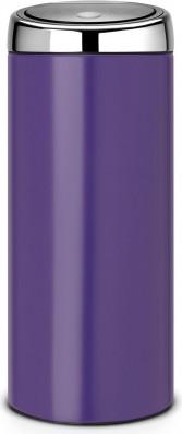 Мусорный бак с педалью 30л фиолетовый Brabantia TOUCH BIN 484704