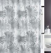 Штора для ванной комнаты 180x200см текстильная, серая Spirella LIOLA 1017916