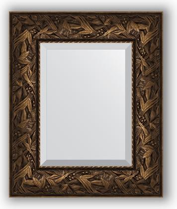 Зеркало с фацетом в багетной раме 49x59см византия бронза 99мм Evoform BY 3365
