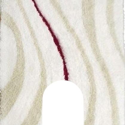 Коврик с вырезом для туалета 50x55см белый Grund JAZZ WC 2052.04.032