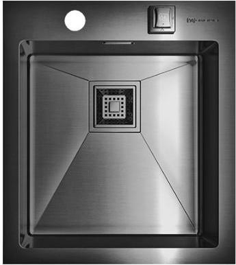 Кухонная мойка без крыла, нержавеющая вороненая сталь Omoikiri Akisame 41-GM 4993094