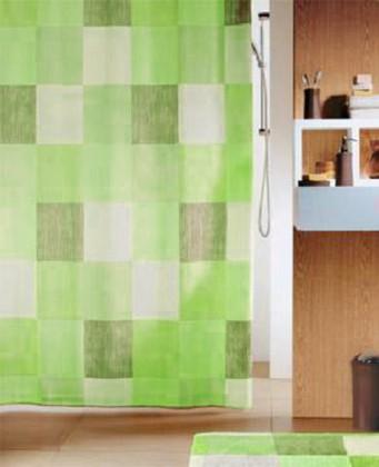 Штора для ванны 240x180см текстильная зелёная Spirella TUSCANY 1012017