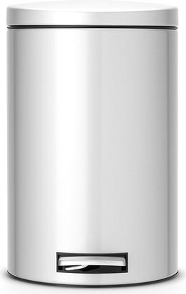 Ведро для мусора 12л с педалью, MotionControl, серый металлик Brabantia 478062