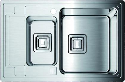 Кухонная мойка крыло слева, нержавеющая сталь матовой полировки Omoikiri Mizu 78-2-R 4993004