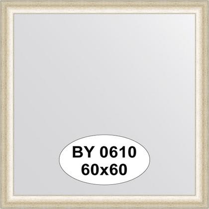 Зеркало 60x60см в багетной раме старое серебро Evoform BY 0610