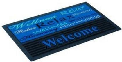 Коврик придверный 40x68см для улицы голубой, резина / полиамид Golze FASHION 433-15-02